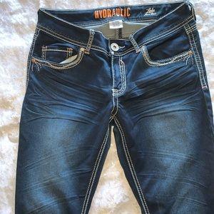 Hydraulic Jeans - Hydraulic 11/12 dark denim jeans Lola micro boot